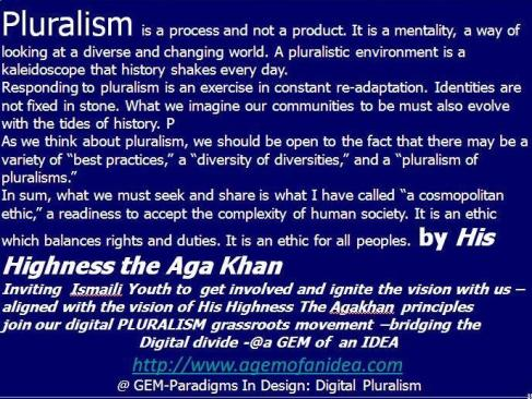 Pluralism is a process. @agemofanidea