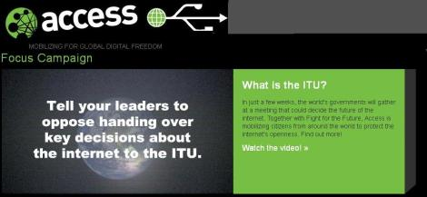 "via @mymulticast "" Access Now  sends a petition in regards to ITU watch video"