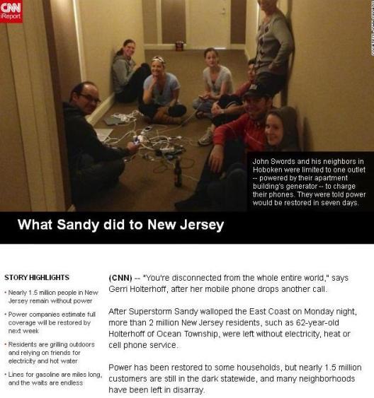 cnn @mymulticast  Hurricane Sandy