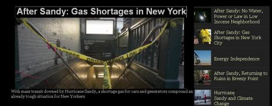 New York - After Sandy Gas Shortage  @mymulticast