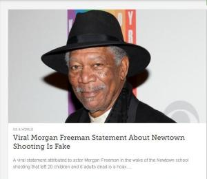morgan freeman hoax  who to  believe on social sites?