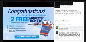 southwest tickets facebook scam a