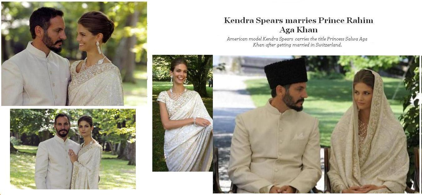 Kendra Spears marry's Prince Rahim Aga Khan he is involved in the poverty reduction efforts with ...